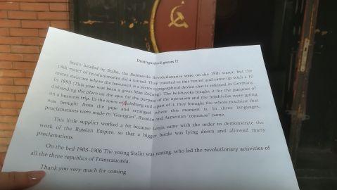 Sztálin itt nyomtatta a kommunista szórólapokat, újságokat