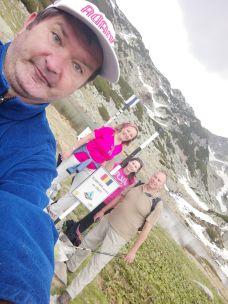 A szombati csapat: Róbert, Bibi, Ildikó és én