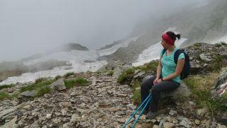 A Negoj-csúcsra nem sikerült feljutni, itt már útban vissza a Bâlea-tóhoz