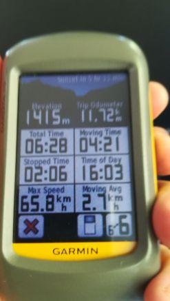 A vasárnapi túra adatai. Nem 65.8 Km/h-val száguldottunk a nyeregben, hanem még néhány percig be volt kapcsolva miután beültem a kocsiba... :)