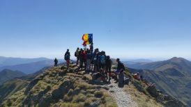 Moldoveanu-csúcs. Tömgesen