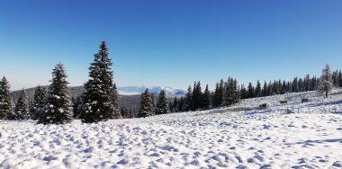 A háttérben a Fogarasi-havasok látszanak